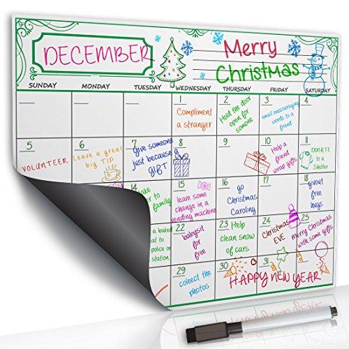 planOvation's Color Print | Whiteboard dry erase monthly calendar | Dry Erase Calendar for Home | Fridge Calendar Planner