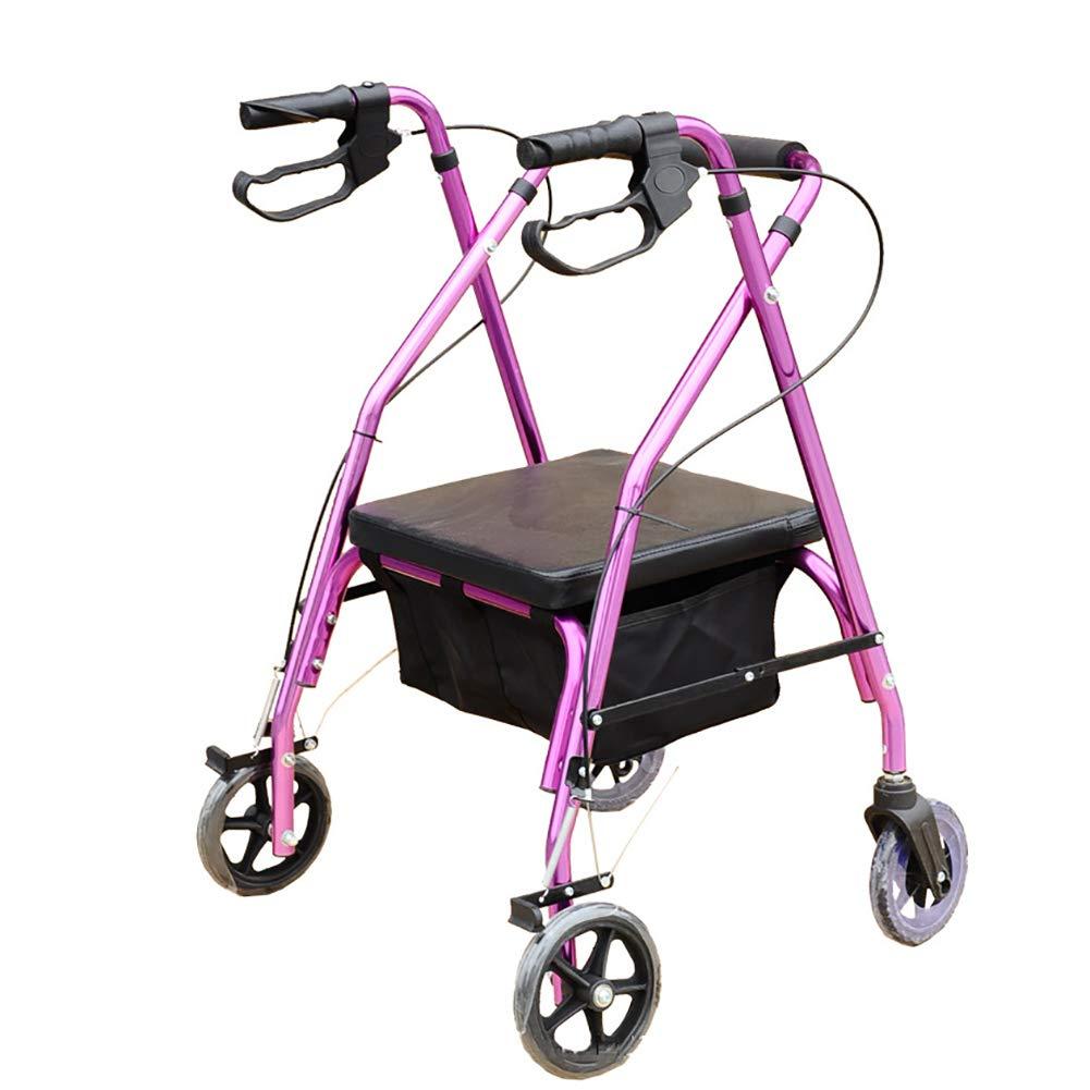 正規通販 歩行器バックサポート、パッド入りシート、携帯用 B07MVCQ3HY、高齢者用ローリングウォーカー付きパープル四輪駆動パープル B07MVCQ3HY, 河村製紙:8f2f09b6 --- a0267596.xsph.ru