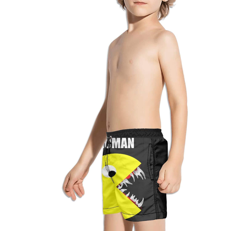Kids Running Solid Side Split Swimming Trunks Shorts