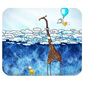 Computer Non-Slip Rubber Mouse Pad with Funny Giraffe theme