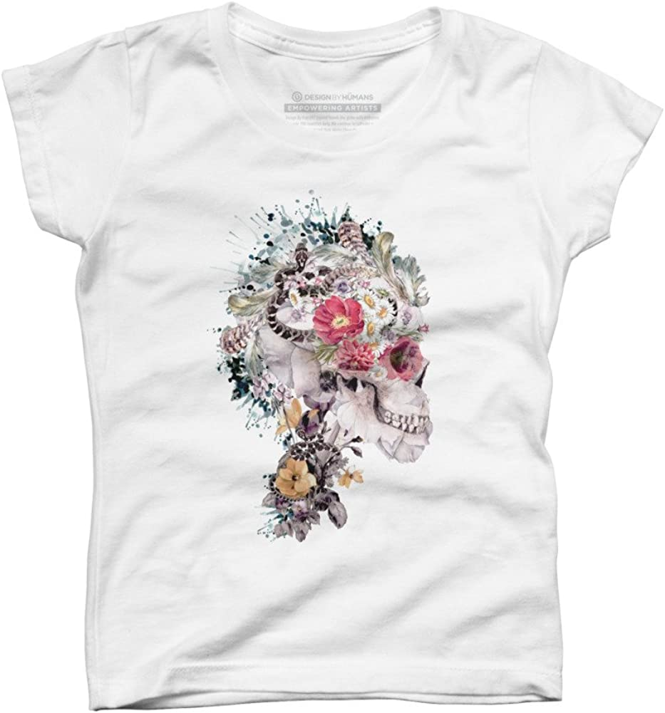 Skull XI Girls Youth Graphic T Shirt Design By Humans