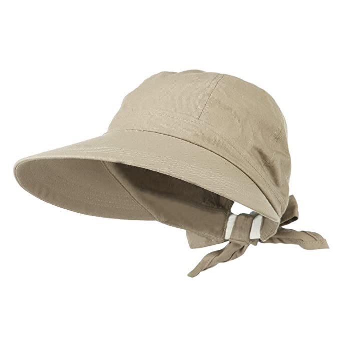 Ladies Beige Wide Brim Cotton Garden Beach Hat with Tie Back at ... c95939e05e2