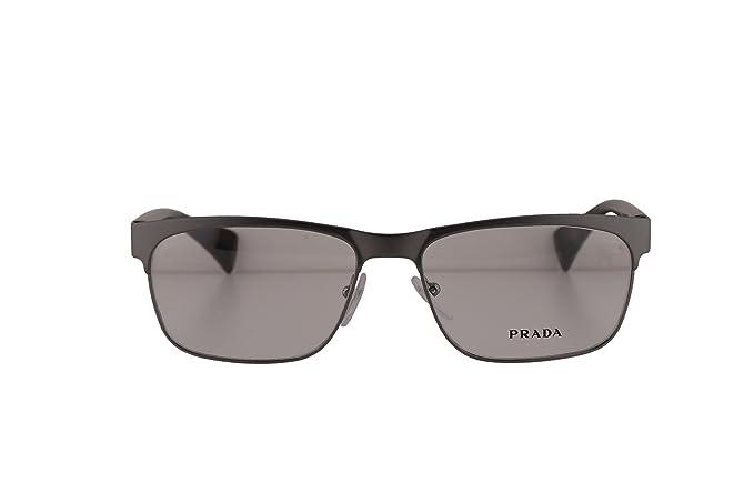 0d865fdcac3 Prada PR61PV Eyeglasses 55-16-140 Matte Gunmetal LA81O1 VPR61P For ...