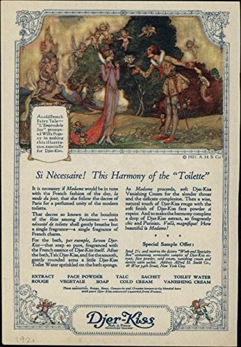 Djer Kiss - Djer-Kiss Fairy Tale Makeup Cosmetics Soap Cold Cream Rouge 1921 vintage print