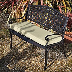 Lazy Susan Rose Metal Garden Bench 2 Seater