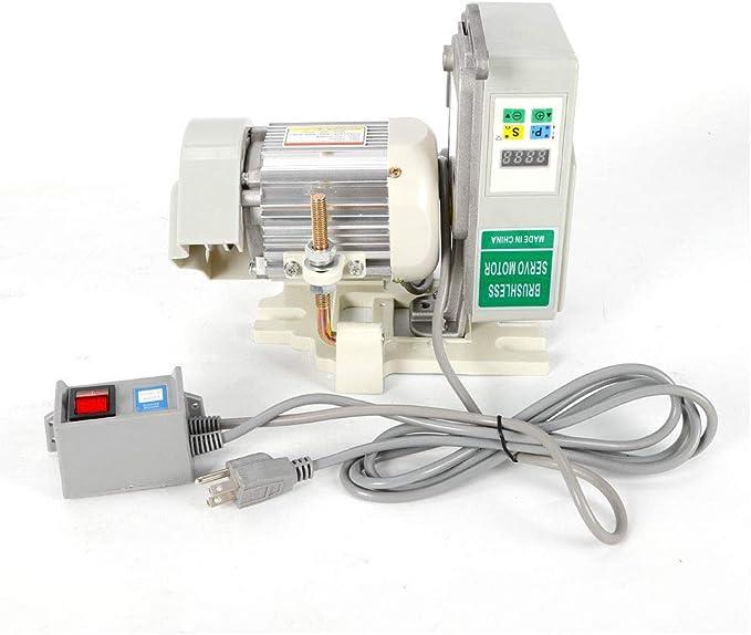 Motor de Máquina de Coser Industrial 600W, Motor Servo Sin Escobillas de Coser Velocidad Ajustable: Amazon.es: Hogar