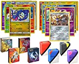 Pokemon Shining Legends Legendary Holo Rare Cards Lot with Mini Album and Totem Deck Box