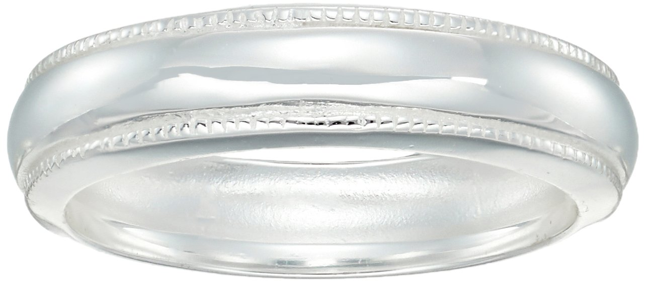 Sterling Silver Milgrain Ring, Size 7