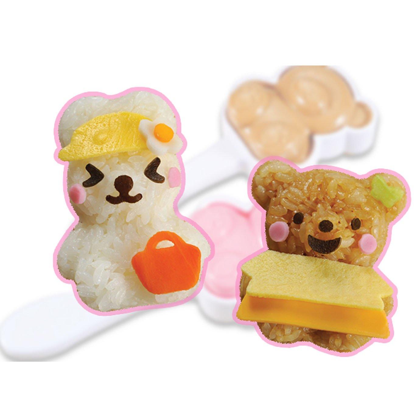 cartoon Millya conejo oso forma sushi maker molde bola de arroz onigiri molde 3d benta almuerzo haciendo accesorios talla /única