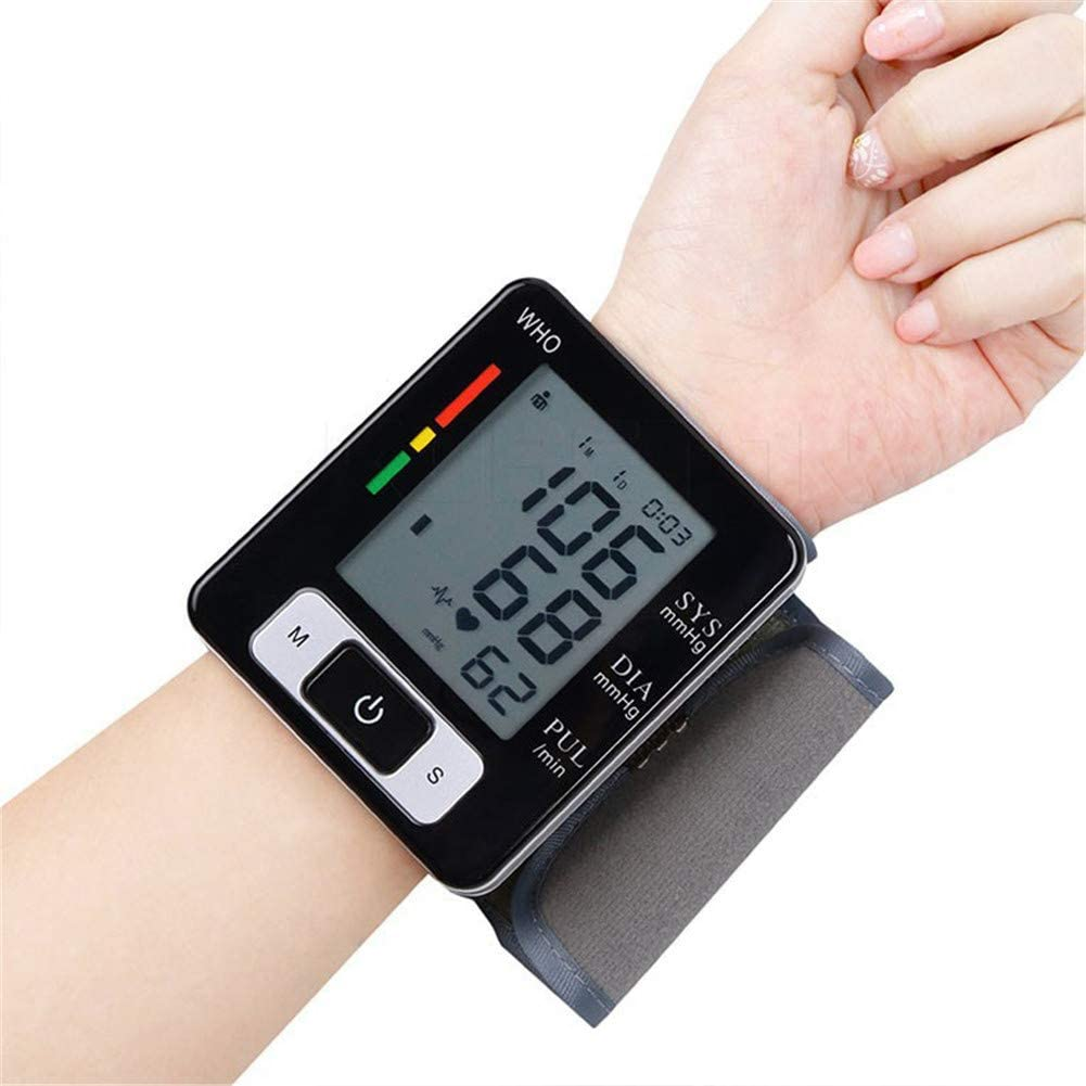 Wrist Sphygmomanometer, Blood Pressure Monitor, with Large LCD Screen for Home Use