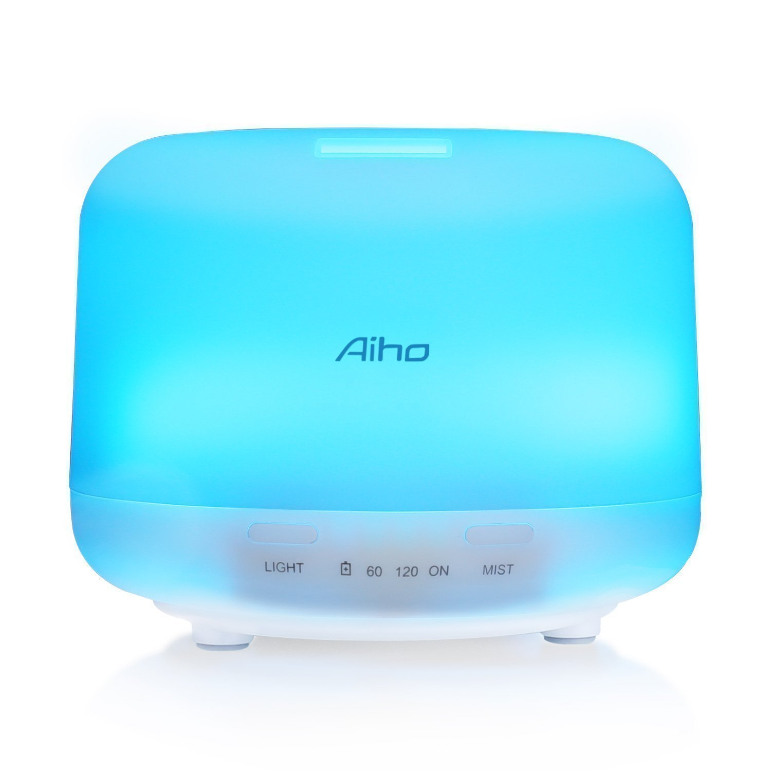 Aroma Diffuser 500ml Essential Oil Diffuser Aiho Electric Ultrasonic Cool Mist Humidifiers with 7 Color LED Lights and Waterless Automatically Shut-off for Office Home Bedroom Yoga Spa