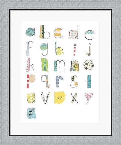 Amazon.com: Alphabet II by Courtney Prahl Framed Art Print Wall ...