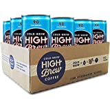 High Brew Cold Brew Coffee - Mexican Vanilla 8 Fl Oz (12 Count) Grab & Go Pre-Made Cold Brew Fair Trade Coffee Low-Acidity Caffeine Drink