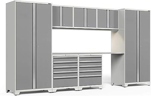 NewAge Products Pro Series Platinum 8 Piece Set, Garage Cabinets, 51313