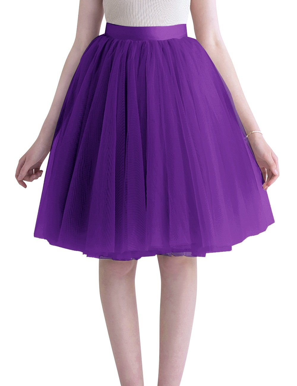 Dasior Women's Tulle Skirts Valentine Holidy Birthdy Party Gifts 2X Plus Purple