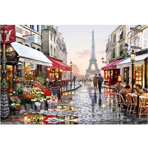 "DIY Paint by Numbers Kit for Adults, Kids Beginner - Paris Street 16""x20"""