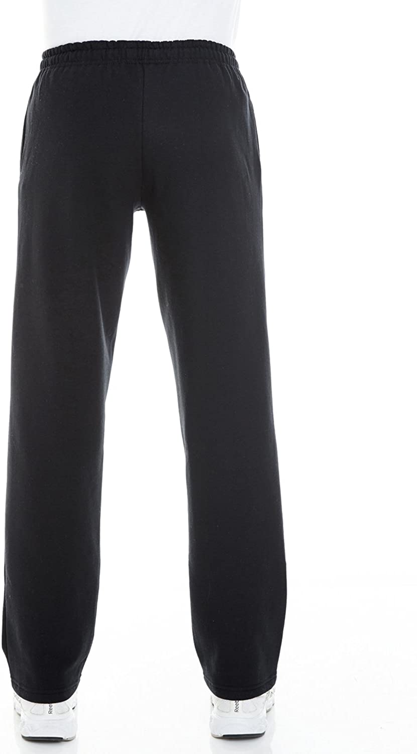 Gildan Mens Fleece Open Bottom Pocketed Pant Sweatpants