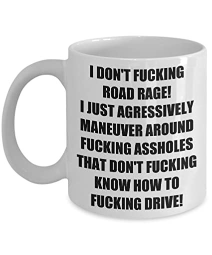Funny Sarcastic Road Rage Birthday Gifts For Tow Truck Taxi Delivery Bus Driver Friends Wife Husband
