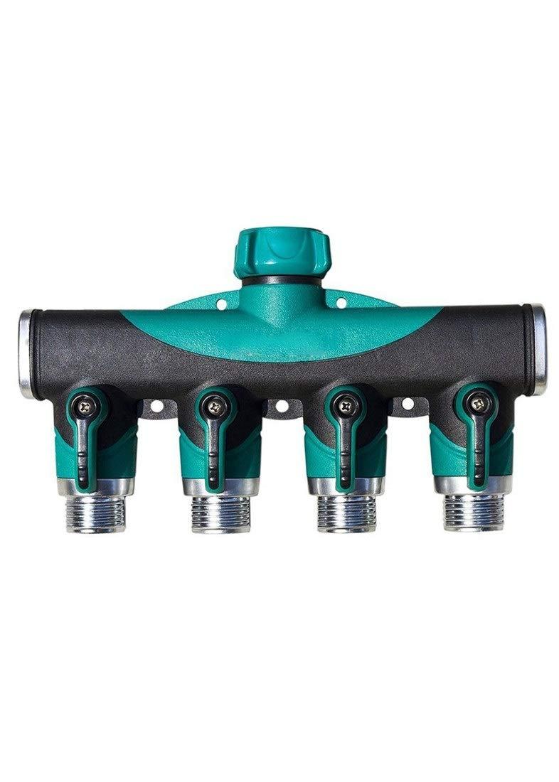 CastleGreens 4-Way Control Valve Hose Splitter for Garden 4 Way Water Tap Converter Connector Splitter Hose Pipe 3//4 Metal Faucet Valve Adapter Garden Irrigation Watering