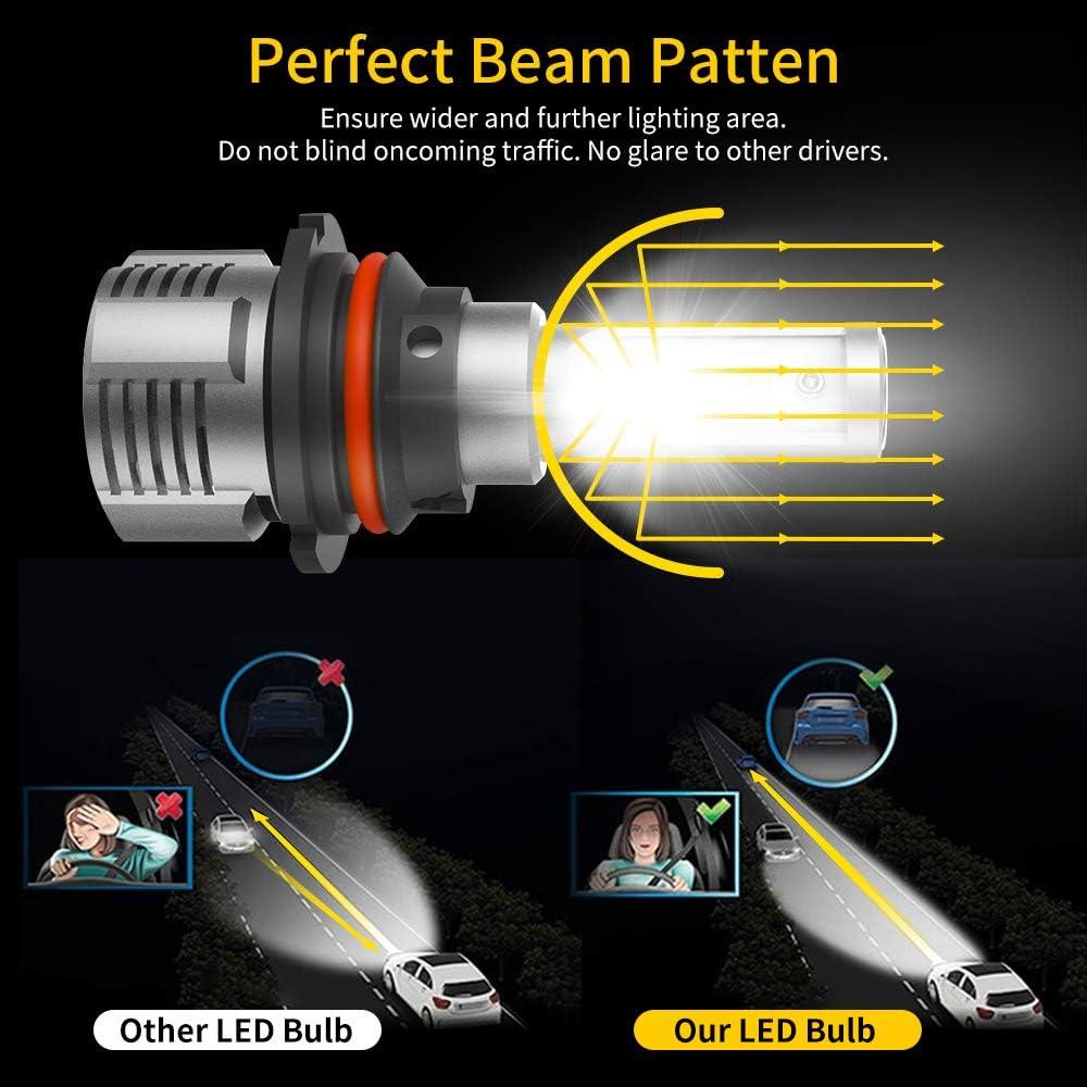 IP67,CSP Chips,360 Degree EYETHESKY 9007 HB5 LED Headlight Bulbs 100W 12000LM 6500K Xenon White High//Low Beam,Fog Light Bulb Conversion Kit