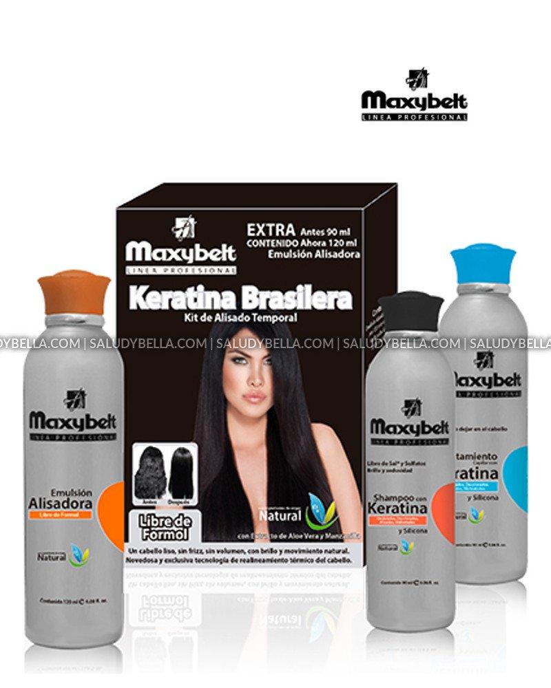 Maxybelt Keratina Brasilera   Progresive Straightening Treatment Blowout with carbocysteine   No Formol, No Itching, No Smell   Alisadora 3 meses con carbocisteina   3.8oz(120ml) - 3.1oz(90ml) x2