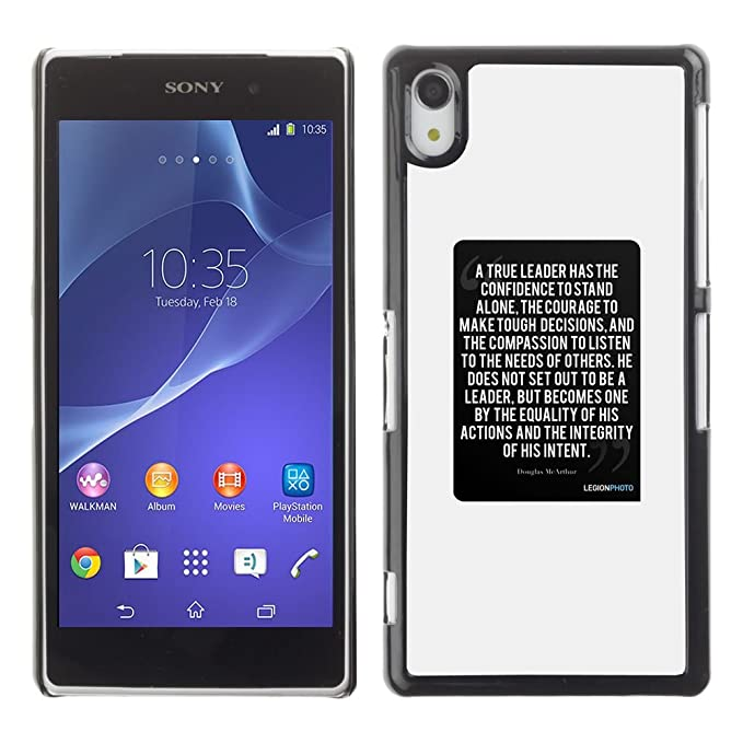 For Sony Xperia Z2 Case , Cartel Negro Blanco Texto Cita ...
