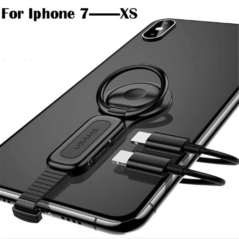 8//8 Plus//X//XS,Ring Adapter Holder for iPhone,for Headphone 2-in-1 Charging and Headphone Adapter Cable for iPhone Highjump Smartphone Holder Vertical Bracket for iPhone 7//7 Plus
