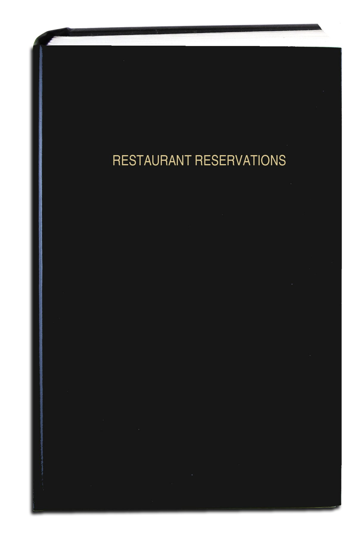 "BookFactory Restaurant Reservations Book, 365 Day Table Reservations, Dinner Reservations, 408 Pages, 8 7/8'' x 13 1/2"" Black Imitation Leather, Smyth Sewn Hardbound (LOG-408-OCS-A-LKT62-(RESTAURANT))"