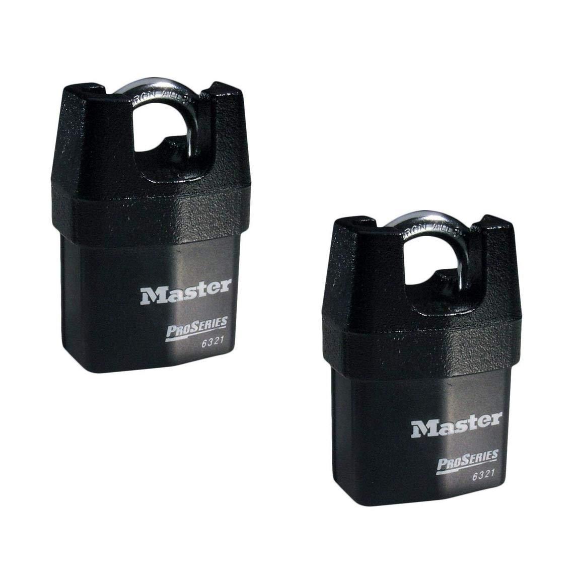 Master Lock - Two (2) High Security Pro Series Padlocks 6321NKA-2 w/BumpStop Technology