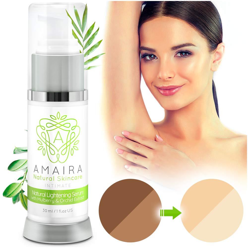 Amaira Intimate Lightening Serum Bleaching Cream - Skin Lightener Whitening for Sensitive Spots, Private Areas Parts, Underarm Armpit, Dark Spots - Gentle Kojic Acid Formula for All Skin Types by Amaira Natural Skincare (Image #2)