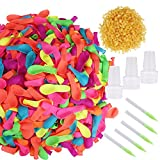 2008 Pieces Water Balloons with Refill Kits Latex Water Ballons for Water Fight Games Summer Splash Fun for Kids and Adults Assorted Colors Aprince