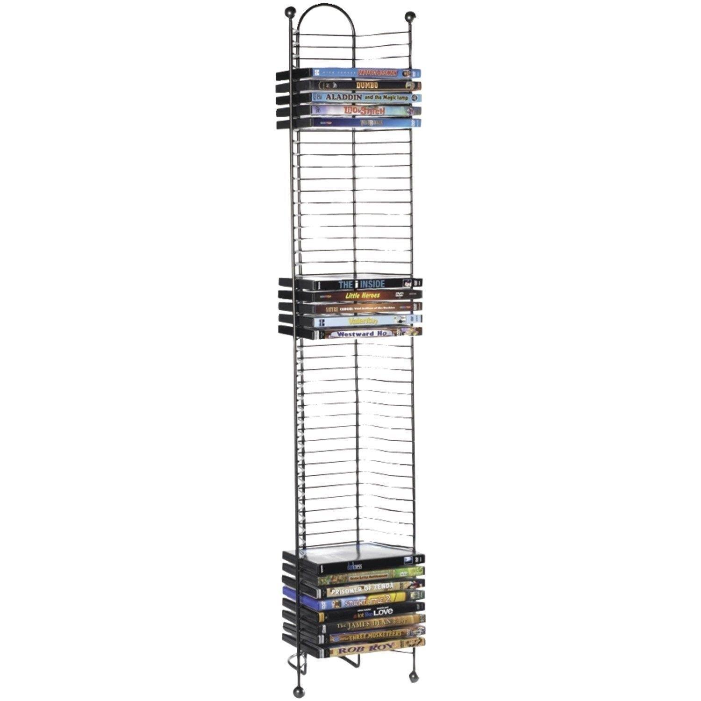 52 DVD BluRay Games Tower Stand Organizer Rack Shelf Holder Storage Media Video