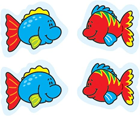 Amazon Com Fish Stickers 144 Count