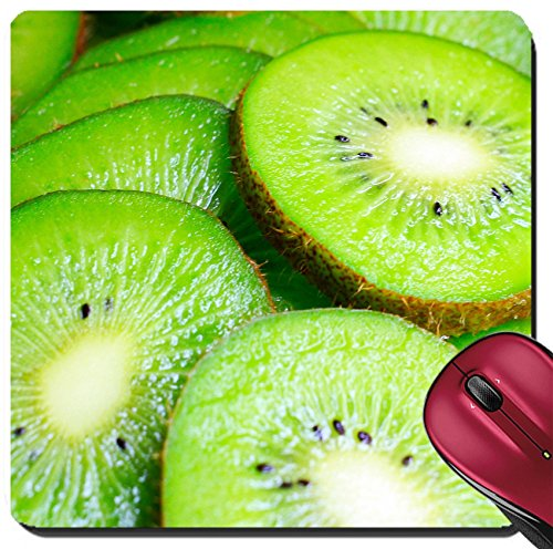 Kiwi Tropical Fruit (Liili Suqare Mousepad 8x8 Inch Mouse Pads/Mat ID: 24195616 a ripe tropical fruit of kiwi as delicacy is a meal)