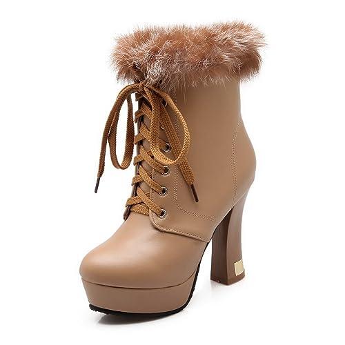 A&N - Botas Chelsea mujer , color marrón, talla 1 UK