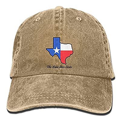 SARA NELL Unisex Adult Love Texas Lone Star State Tendy Vintage Adjustable Baseball Cap Denim Dad Hat