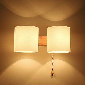 NOCHX Lighting-Wandlampe Massivholz kommt mit Kabel-Schalter ...