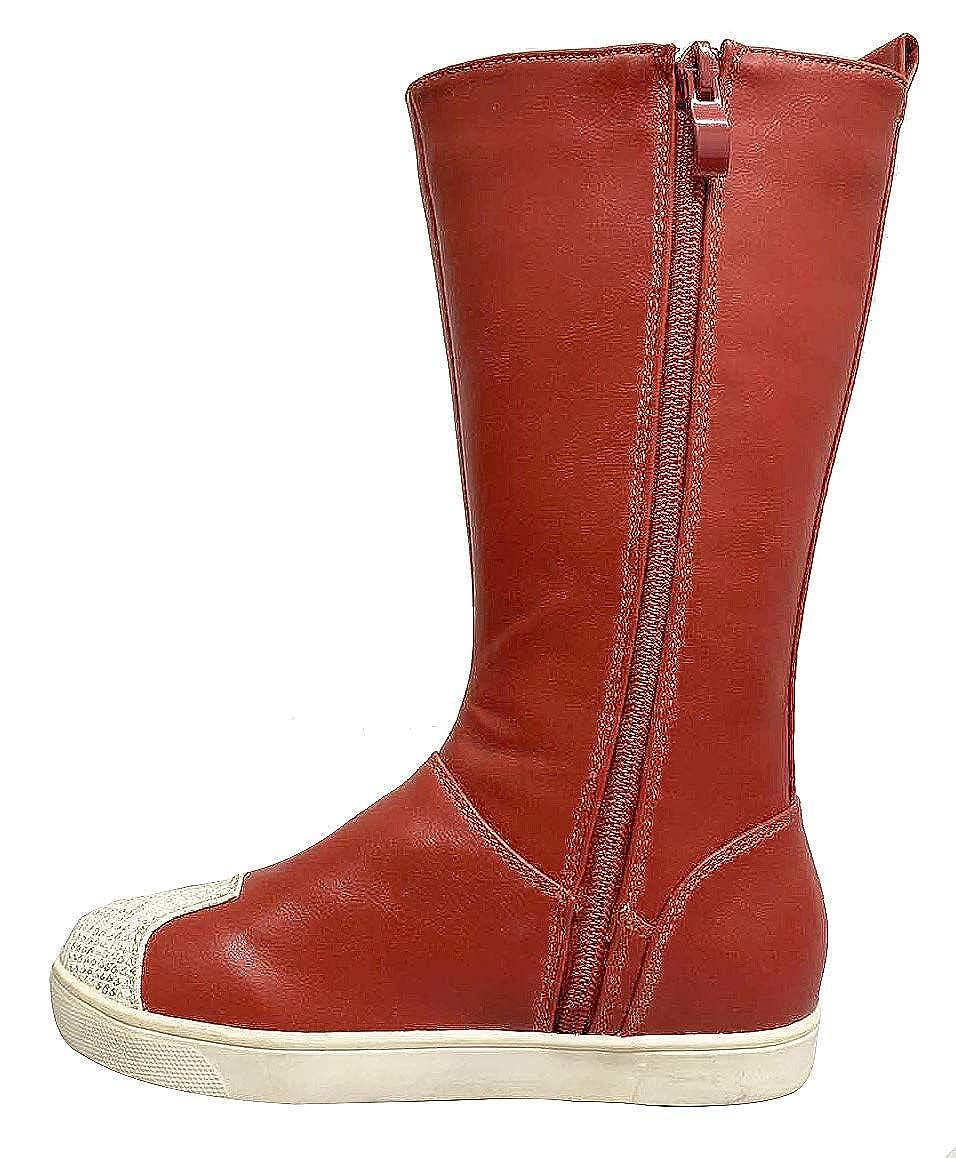 Girls Kids Slouchy Side Zipper Comfort Flat Knee High Sneaker ...