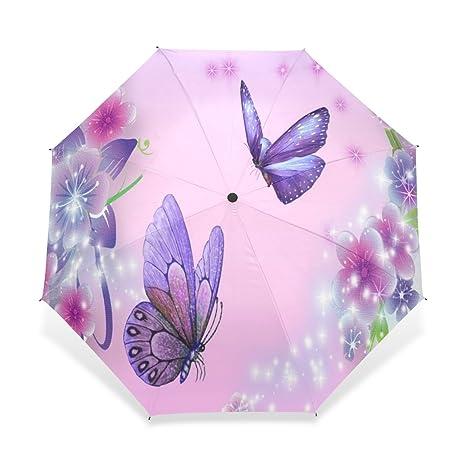 d576e15e04bf Amazon.com : BAIHUISHOP Umbrella, Compact Travel Windproof Golf ...