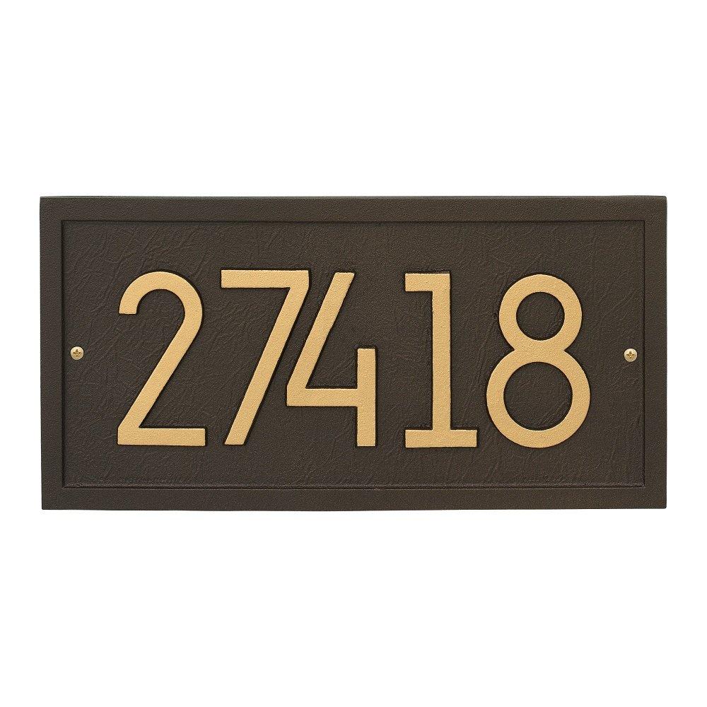 Custom Modern Rectangle Aluminum Address Plaque 14.75''H x 7.5''W (1 Line)