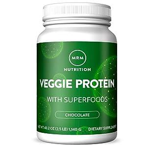 MRM Veggie Protein Powder w/Superfoods - 2.5 lbs - Chocolate