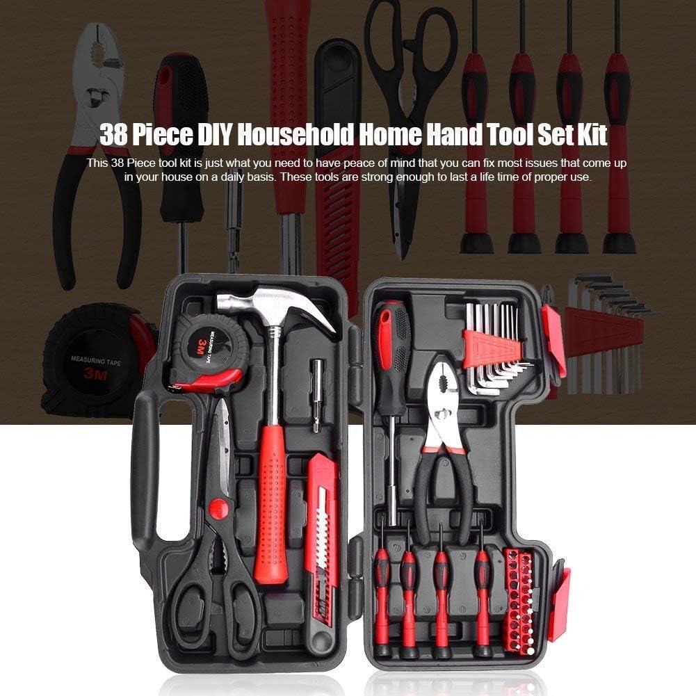 martillo y tijeras con destornillador Malet/ín de herramientas de 38 piezas