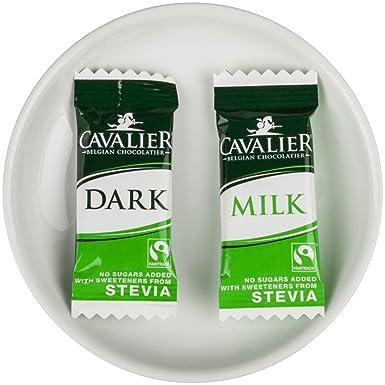 Cavalier Chocolate Oscuro y Mezcla de Chocolate con Leche con Stevia Edulcorantes 1000 g: Amazon.es: Alimentación y bebidas