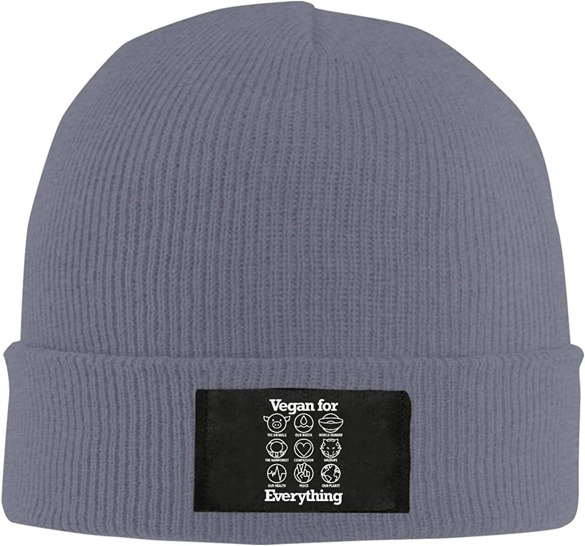 BF5Y6z/&MA Unisex Vegan for Everything Knitted Hat 100/% Acrylic Fashion Beanies Cap