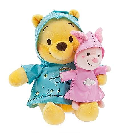 2feaa64ac0e55 Amazon.com  Disney Winnie the Pooh and Piglet Rainy Day Plush Set - Small   Toys   Games