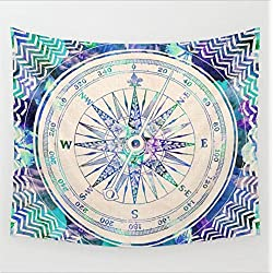 Boho 203CM 153CM Psychedelic Clock Floral Tapestry Hippy Mandala Gypsy Wall Hanging Sheet Coverlet Picnic blanket Bedspread Curtain Decor Table Couch Cover Beach Yoga Throw L, K