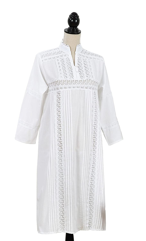 Sleepwear & Robes Pink White Bows No Sleeve Floral Nightgown Sleepwear Pocket Lace Trim Large