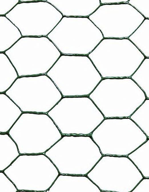 Jardin202 050 x 10 Metros - Malla metálica Hexagonal plastificada Verde - 25mm: Amazon.es: Jardín