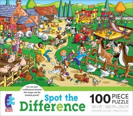 Spot The Difference Dinosaur Park 100 Piece Jigsaw Puzzle