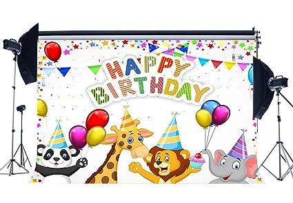 GzHQ Niños Feliz cumpleaños Telón Fondo 5X3FT Vinilo ...